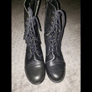 Pre-loved Steve Madden Troopa leather boots